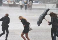 Ожидается сильный дождь в сочетании с грозой, градом и шквалом