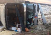 Автобус с пятигорчанами опрокинулся в кювет