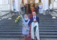 Божественнвя литургия прошла в Свято-Никольском соборе