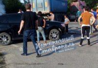Под Ставрополем столкнулись два грузовика и легковушка
