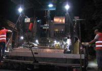 Работы на дорогах Пятигорска ведутся в темное время суток