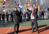 Газпром подарил детям спортивную площадку