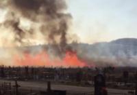 На ессентукском кладбище произошел пожар