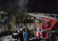 В Пятигорске горит дом на улице Ермолова