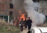 В Кисловодске загорелась машина
