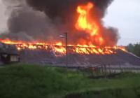 Пожар уничтожил цех