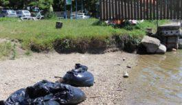 На ессентукском озере высадился экологический десант