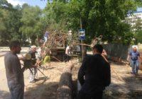 Жители поселка Аликоновка помогли убирать мусор