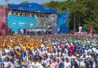 Президент похвалил волонтеров и поучаствовал в Гигараме
