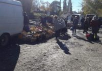 В Кисловодске на рынке Минутка расположилась стихийная торговля