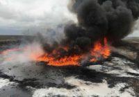 Пожар в нефтехранилище