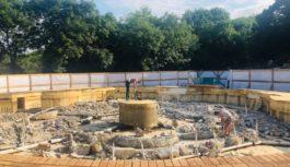 В Железноводске реконструируют свето-музыкальный фонтан