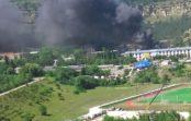 Пожар на улице Промышленной в Кисловодске