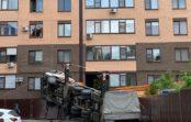В Ставрополе на дом упал строительный кран