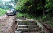 В Кисловодске приступили к ремонту лестницы на ул. Резервуарной